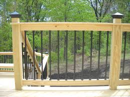 metal deck spindles over pressure treated pine deck expressions