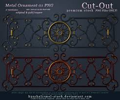 metal ornament 01 cut out png premium by kuschelirmel stock on