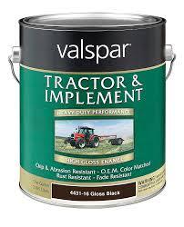 Semi Gloss Black Spray Paint Amazon Com Valspar 4431 16 Gloss Black Tractor And Implement Paint
