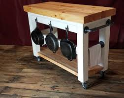 butcher block portable kitchen island butcher block island etsy