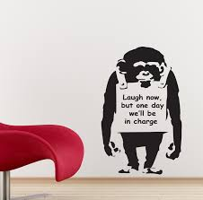 banksy wall stickers monkey decals art ba10 ebay