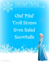 frozen party family dinner u0026 movie night printables