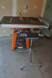 ridgid 13 10 in professional table saw jet 10 left tilt table saw w 30 proshop fence 708492k new