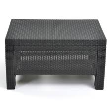 Patio Side Table Keter Corfu Outdoor Coffee Table Grey Hayneedle