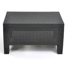 Wicker Plastic Patio Furniture - keter corfu outdoor coffee table grey hayneedle