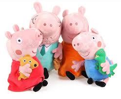 Peppa Pig Plush Peppa Pig Set Of Four Plush Family Members Pig And