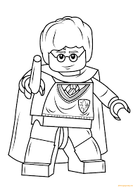 lego harry potter and his wand coloring page free coloring pages