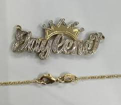 plated name necklace myfancyboutique