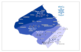 Montgomery County Snow Removal Map Winter Storm Warning Moco Snow