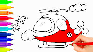 how to draw for kids helicopter coloring pages for children