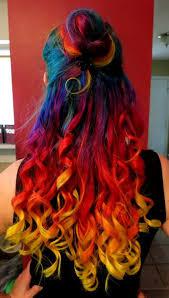 rainbow color hair ideas 2016 crazy color hair dye ideas rainbow hairstyle fashdea