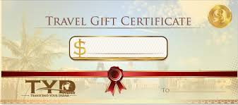 travel gift certificates transcend your dreams travels traveling packages traveling