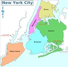 New York Neighborhood Map by Map Of Nyc 5 Boroughs Neighborhoods Also District Map Nyc