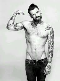 thinspo boy ribs v line hip bones tattoos plugs dude