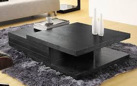 contemporary living room tables contemporary black multi layered coffee table ta florida vcjm06