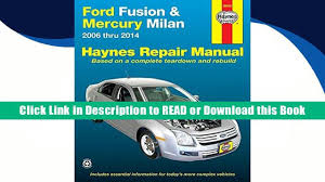 download ford fusion mercury milan 2006 thru 2014 haynes repair