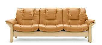 stressless buckingham lowback modern recliner leather sofa