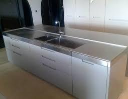 meuble cuisine inox brossé meuble de cuisine inox inox pyracnaces galerie intacrieur cuisines