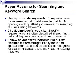 Scan Resume Resumes Creating Resumes That Stand Out From The Masses Ppt Download