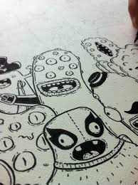 doodle name arts monsters doodle and handmade illustrated wearables with