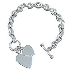 double heart charm bracelet images Double heart charm sterling silver bracelet heavy 35 grams jpg