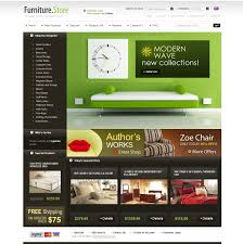 website template 25727 furniture store online custom website