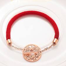 red necklace accessories images China lucky red rope fashion accessories women coins charm jpg