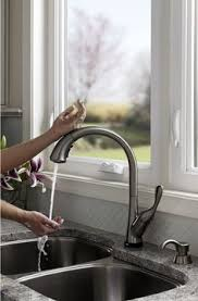brilliant and interesting hands free kitchen faucet lowes a stylish sink with crease bowl bottom for improved drainage and