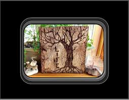 wall decor wood plaques made tree of tree of wood burned tree of