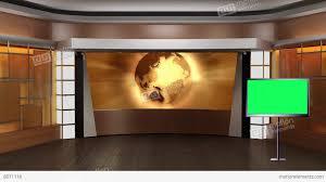 news tv studio set 83 virtual green screen background loop stock