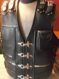 leather biker vest patch vest handmade biker vest genuine leather thick leather 1