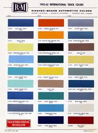 colour charts u2022 old international truck parts