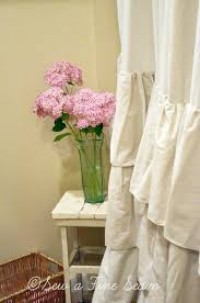 Ruffled Shower Curtain Ruffled Shower Curtain Sew A Fine Seam