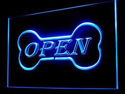 shop open sign lights c b signs dog bone pet store open sign led neon light sign dispay