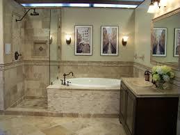 bathroom travertine bathroom wainscoting and floor for bathroom idea