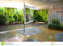 nice indoor garden design stock photo image 63792894