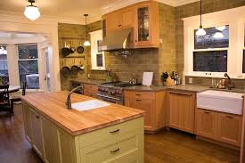 wall mounted pot rack in kitchen contemporary with honey oak
