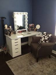how to make vanity desk lighted vanity table with mirror and bench home furnishings