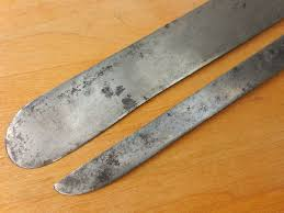 sold pair dexter usa old carbon steel kitchen chef knives 11