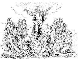 coloring page of jesus ascension jesus christ ascension coloring pages and line art drawing images