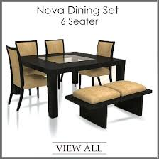 glass top dining table set 6 chairs glass dining table set for 6 sumr info