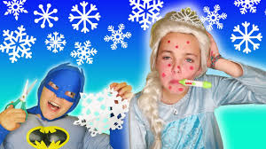 frozen elsa gets sick how to make homemade snowflake garland easy