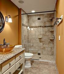 Small Bathroom Walk In Shower Bathroom Small Bathroom With White Hanging Towel And Doorless