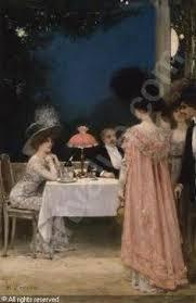 The Dinner Party Painting Jules Grun - jules alexandre grün 1868 1934 salon des artistes français
