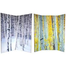 handmade canvas sided 6 foot aspen and birch trees room