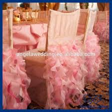 wholesale chair covers ch005e hot sale wholesale custom made fancy organza ruffled curly