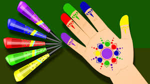 Paint Design by Learn Colors With Color Fingers Painting Art U0026 Designs For