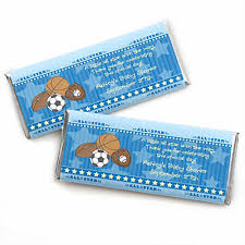 candy bar baby shower all sports personalized baby shower candy bar wrapper favors