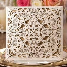 Blank Invitation Cards Wedding Invitations Gold Paper Blank Inner Sheet Laser Cutting