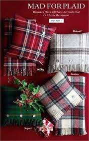 Christmas Pillows Pottery Barn Hamilton Plaid Pillow Cover Pottery Barn Plaid Pinterest